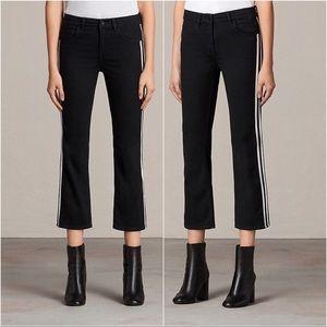 All Saints Heidi Kick Flare Cropped Jeans Stripe26